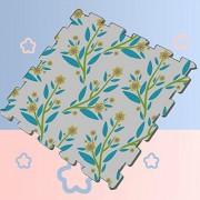 GUJGK Alfombrilla de Juego para bebés Suave y cómoda Impermeable Patrón de Flores increíble Rompecabezas Hermoso Alfombrilla para niños Ejercicio para Ejercicio Alfo