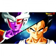 freiza and vegeta base sticker poster|dragon ball z poster|anime poster|size:12x18 inch|multicolor