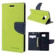 Mercury Pouzdro / kryt pro Samsung Galaxy S6 EDGE - Mercury, Fancy Diary Lime/Navy