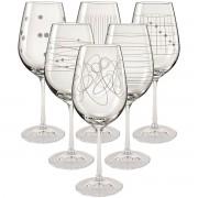 Set pahare de vin Crystalex Elements, 6 piese, 450 ml