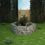 vidaXL Šesterokutna Gabionska Posuda za Biljke 160x139x50 cm