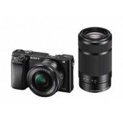 Sony ALPHA A6000 + 16-50mm + 55-210mm - NERO - 2 Anni Di Garanzia