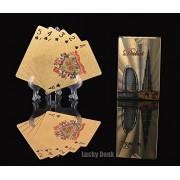 Gold Foil Coated PLAYING CARDS FULL POKER DECK Gift Dubai Burj Al Arab Burj Khalifa Color Design+ free Lucky Donk sticker