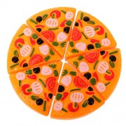 MagiDeal Set Of 6PCS Simulation Pizza Slices Kitchen Pretend Play Set Developmental Kids Children Toy Fun Game
