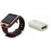 Zemini DZ09 Smart Watch and Smart OTG for SAMSUNG GALAXY J 1 ACE(DZ09 Smart Watch With 4G Sim Card Memory Card| Smart OTG)