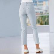 Michèle Gestreepte magic-jeans, 40 - blauw/wit