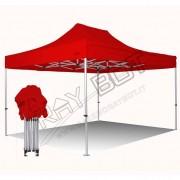 ray bot Gazebo pieghevole 3x4,5 rosso Exa 55mm alluminio senza laterali PVC 350g