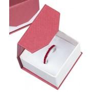 Piros színű, elegáns, mágneses ékszertartó díszdoboz (gyűrű)