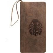 Kan Valentine Day Special Gift-Premium Quality Hunter Leather Mobile Holder/Business Card Holder/Passport Organizer for Men & Women(Brown)