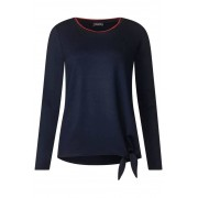 STREET ONE Shirt in effen kleuren - deep blue