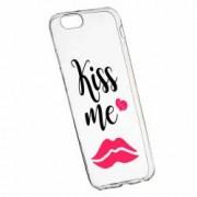 Husa Silicon Transparent Slim Kiss Me 103 Apple iPhone 6 PLUS 6S PLUS