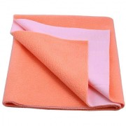 Glassiano Waterproof Baby Bed Protector Dry Sheet (100x70 CM) Medium Size Peach