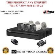 Dahua 2 MP HDCVI 4CH DVR + Bullet Camera 3Pcs CCTV Combo