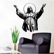 EJA Art jesus christ New Wall Sticker (Material - PVC) (Pec - 1) With Free Set of 12 pec butterflies sticker