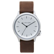 Rip Curl Current Leather Watch Silver