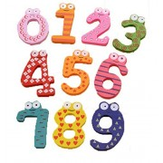 Bestwoohome Wooden Kids Magnetic Letters and Numbers Educational Refrigerator Magnet