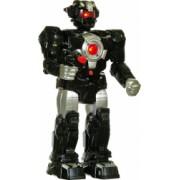 Robot negru pentru copii educativ care merge are sunete bratele sunt reglabile