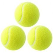ShopperChoice Green Rubber Cricket Tennis Ball (Pack of 3)