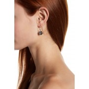 Marc Jacobs Coin Earrings CRYSTAL-SILVER