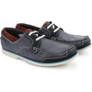 Clarks Kendrick Sail Blue Nubuck Sneakers For Men(Blue)