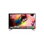 Smart TV LED 55 Philco PH55A17DSGWA4k Ultra HD 4k com Conversor Digital 3 HDMI 2 USB Wi-Fi Sleep timer e Closed Caption 60Hz - Preta