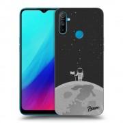 Átlátszó szilikon tok az alábbi mobiltelefonokra Realme C3 - Astronaut