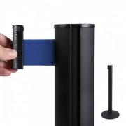 Jansen Display Bariéra černá, 2,7m výsuvný pásek červený modrá