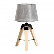 HOMCOM Tripod Table Lamp-Grey