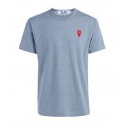 Comme des Garçons Play T-Shirt Comme Des Garçons PLAY grigia melange con cuore rosso