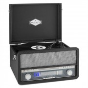Belle Epoque 1907 Sistema Audio Retrò Giradischi Cassetta Bluetooth USB CD