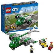 Lego Year 2016 City Series Set #60101 - AIRPORT CARGO PLANE with Airport Service Car Plus Pilot and Airport Worker Minifigure (Pieces: 157)