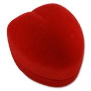Piros szív alakú gyűrű ékszer doboz fehér belsővel