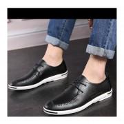 Mocasines Zapatos De Hombre De Negocios De Ecocuero De Dermis De Respirable De Moda – Negro