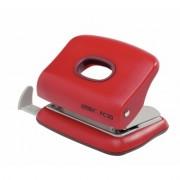 Perforator plastic de birou, pentru maxim 20 coli, rosu, RAPID FC20