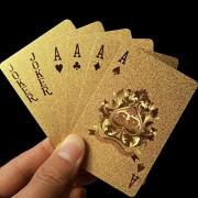New Golden Playing Cards Deck gold foil poker set Magic card 24K Gold Plastic foil poker Durable Waterproof Cards