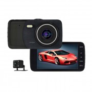 "Camera auto duala Novatek T600 Black-Box, NTK 96658, Display 4"" IPS, 12MP FullHD,"
