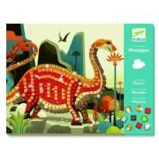 Zestaw kreatywny tworzenie obrazów, mozaiki DINOZAURY DJECO DJ08899