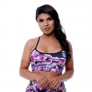 GraffitiBeasts Cost Two - Top met graffitiprint in model Leopard - Multicolor - Size: Small
