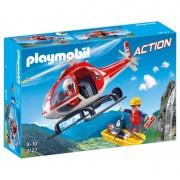 Salvatori montani cu elicopter Playmobil