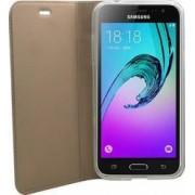 Husa Flip Focus Samsung Galaxy J3-2016 Auriu