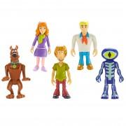 Set 5 Figurine 7 Cm Personaje (daphne, Scooby Doo, Shaggy, Fred, Skeleton Man)
