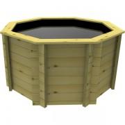 6ft (1.82m) Octagonal 44mm Wooden Koi Pond 1099mm High