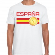 Bellatio Decorations Espana / Spanje landen t-shirt wit heren
