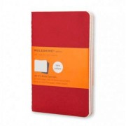 Unbranded Cahier journal (set of 3) large ruled soft cranberry red