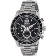 Seiko Chronograph Black Round Watch -SPC137P1