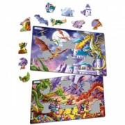 Set 2 Puzzle-uri Dragoni 28 piese Larsen LRU12