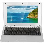 Laptops 1088A PC Portátil 10.1''Notebook 512 MB RAM+4 GB ROM Google Android 4.4 Dual Core US Plug Plateado