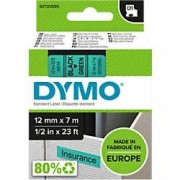 Dymo D1 Labelling Tape 45019 Black on Green 12 mm x 7 m