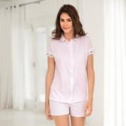 Pluto Sommer-Pyjama, 40 - Rosé-Melange