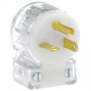 Leviton 8315-cat 20 Amp, 125 V, Plug, ángulo de, el Hospital de hoja recta (Grado, Tierra, Blanco y Negro